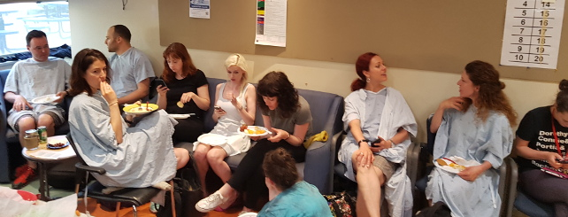 Group of SPs in waiting room.